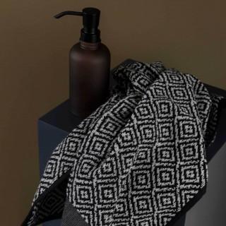 Mette Ditmer Morocco Gjestehåndkle 2-PK 35x55 cm Sort/Hvit