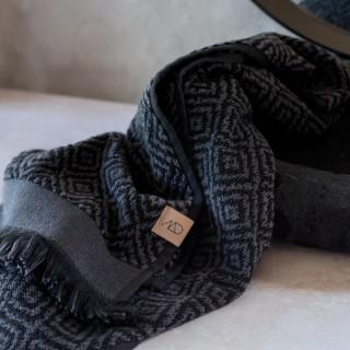 Mette Ditmer Morocco Håndkle 50x95 cm Sort/Grå