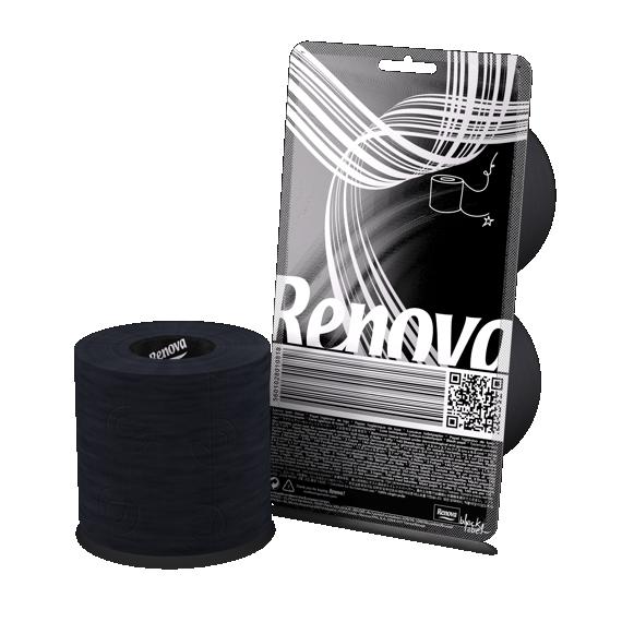 Renova Toalettpapir Sort 2-pk