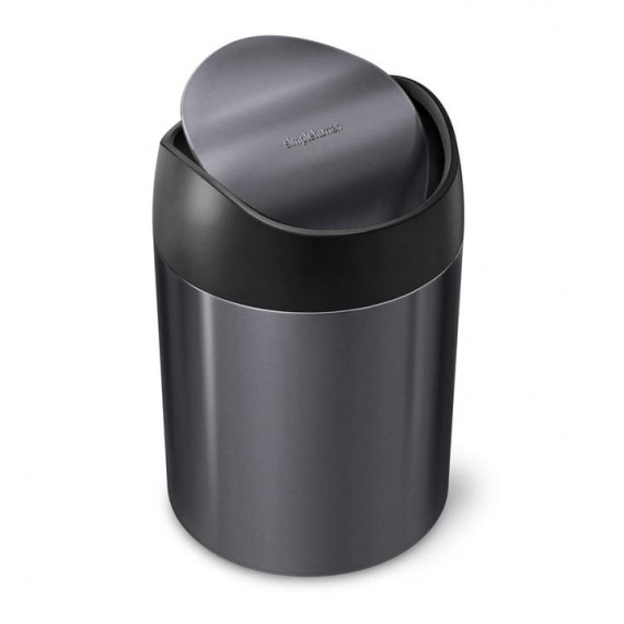Simplehuman Mini Søppelbøtte til bord sort