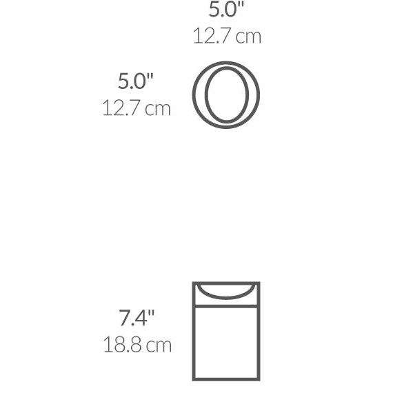 Simplehuman Mini Søppelbøtte til bord hvit