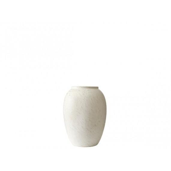 Bitz Vase 20 cm Matt kremfarget